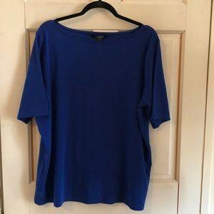 NWT Ralph Lauren 3X Women's Blue Shirt